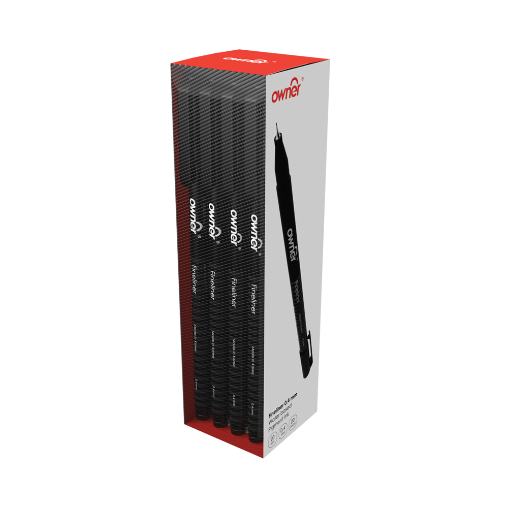 Fineliner Box Black